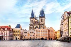 Chiesa della nostra signora prima di Tyn a Praga, nessuna gente immagini stock libere da diritti