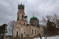 Chiesa della pietra di Novo-ascensione, Toržok, Russia fotografia stock libera da diritti