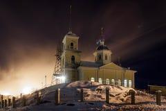 Chiesa della presentazione del distretto di signore di Solomennoye Immagine Stock