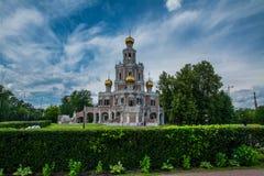 Chiesa della protezione della Vergine Santa in Fili Fotografia Stock