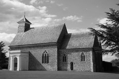 Chiesa della Risonanza in bianco e nero Fotografie Stock