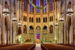 Chiesa della riva del fiume - New York Fotografia Stock