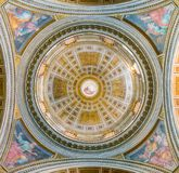 The dome by Guido Reni, in the Church of Santissima Trinità dei Pellegrini, in Rome, Italy. royalty free stock photo