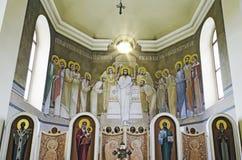 Chiesa della st Anne - verniciato sull'altare Fotografie Stock Libere da Diritti