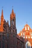 Chiesa della st Anne a Vilnius Immagini Stock Libere da Diritti