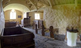 Chiesa della st Baglan, Llanfaglan fotografia stock libera da diritti