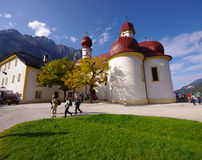 Chiesa della st Bartholomews, Berchtesgaden Fotografia Stock