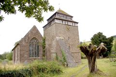Chiesa della st Bridget - Skenfrith Galles del sud Fotografie Stock Libere da Diritti