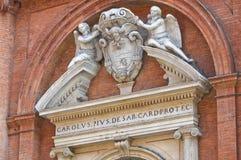 Chiesa della st Carlo. Ferrara. L'Emilia Romagna. L'Italia. Fotografie Stock Libere da Diritti