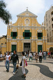 Chiesa della st Dominics al quadrato Macao di Senado Fotografia Stock Libera da Diritti