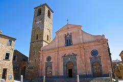 Chiesa della st Donato. Civita di Bagnoregio. Il Lazio. L'Italia. Immagine Stock Libera da Diritti