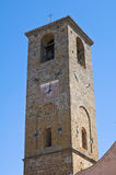Chiesa della st Donato. Civita di Bagnoregio. Il Lazio. L'Italia. Immagine Stock