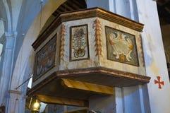 Chiesa della st Donato. Civita di Bagnoregio. Il Lazio. L'Italia. Fotografie Stock
