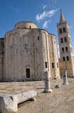 Chiesa della st Donatus, Zadar, Croatia fotografia stock