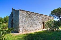 Chiesa della st Eufemia. Specchia. La Puglia. L'Italia. Immagine Stock