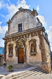 Chiesa della st Eustachio. Ischitella. La Puglia. L'Italia. Immagini Stock Libere da Diritti