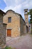 Chiesa della st Francesco. Bardi. L'Emilia Romagna. L'Italia. Fotografie Stock Libere da Diritti