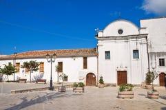 Chiesa della st Francesco. Ischitella. La Puglia. L'Italia. Fotografia Stock