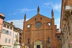 Chiesa della st Francesco. Piacenza. L'Emilia Romagna. L'Italia. Immagine Stock