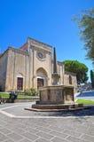 Chiesa della st Francesco. Tarquinia. Il Lazio. L'Italia. Fotografia Stock Libera da Diritti
