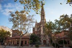 Chiesa della st Francis de Sales su Passeig de Sant Joan Fotografia Stock