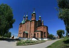 Chiesa della st George in Novoaltajsk, Altai Territor Fotografie Stock Libere da Diritti