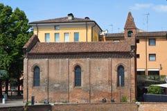 Chiesa della st Giuliano. Ferrara. L'Emilia Romagna. L'Italia. Immagine Stock