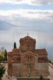 Chiesa della st John a Kaneo in Ohrid, Macedonia Fotografia Stock Libera da Diritti