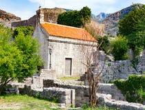 Chiesa della st Jovan, vecchio Antivari Fotografie Stock