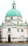 Chiesa della st Kazimierz. Varsavia, Polonia Immagini Stock