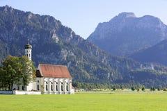 Chiesa della st Koloman vicino a Schwangau, Baviera Fotografia Stock Libera da Diritti