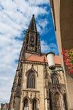 Chiesa della st Lamberti, Prinzipalmarkt, Renania settentrionale-Vestfalia NRW del nster del ¼ di MÃ fotografia stock libera da diritti