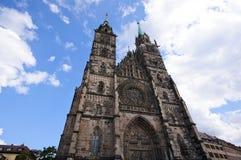 Chiesa della st Lorenz - Nürnberg/Norimberga, Germania Immagini Stock