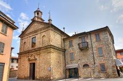 Chiesa della st Lorenzo. Bobbio. L'Emilia Romagna. L'Italia. Fotografia Stock Libera da Diritti