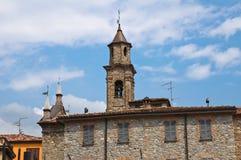 Chiesa della st Lorenzo. Bobbio. L'Emilia Romagna. L'Italia. Immagini Stock
