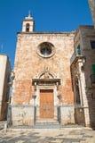 Chiesa della st Maria di Costantinopoli Giovinazzo La Puglia L'Italia Fotografie Stock
