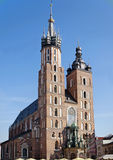 Chiesa della st Maryâs a Cracovia Immagini Stock