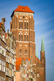 Chiesa della st Mary in vecchia città di Danzica Fotografia Stock