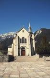 Chiesa della st Michel a Chamonix-Mont-Blanc, Francia Fotografia Stock