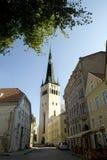 Chiesa della st Olaf di Tallin Estonia Fotografia Stock