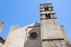Chiesa della st Pancrazio. Tarquinia. Il Lazio. L'Italia. Fotografie Stock Libere da Diritti