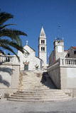 Chiesa della st Peter in Supetar Fotografia Stock Libera da Diritti