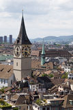 Chiesa della st Peter a Zurigo immagine stock libera da diritti