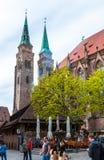 Chiesa della st Sebaldus a Norimberga fotografia stock