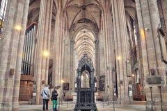 Chiesa della st Sebaldus a Norimberga fotografie stock