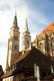 Chiesa della st Sebaldus, Norimberga fotografia stock