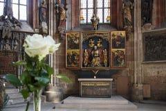 Chiesa della st Sebaldus a Norimberga, Germania, 2015 fotografia stock