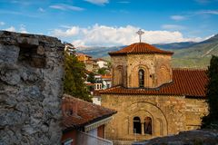 Chiesa della st Sophia, Ocrida Fotografia Stock