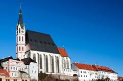 Chiesa della st Vitus in Cesky Krumlov Immagini Stock Libere da Diritti