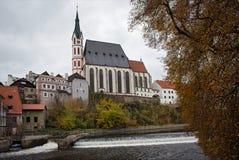 Chiesa della st Vitus, Cesky Krumlov, Repubblica ceca Fotografia Stock Libera da Diritti